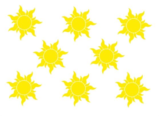 Tangled Sun Template